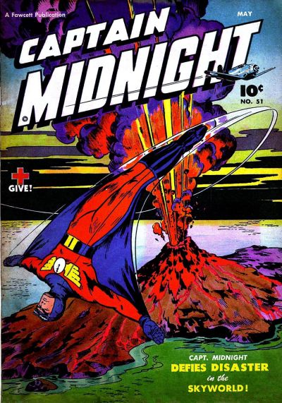 Cover for Captain Midnight (Fawcett, 1942 series) #51