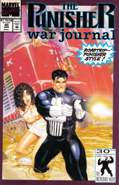 Cover for The Punisher War Journal (Marvel, 1988 series) #40