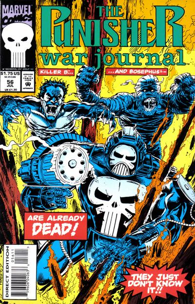 Cover for The Punisher War Journal (Marvel, 1988 series) #56