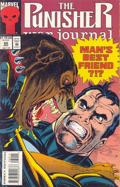 Cover for The Punisher War Journal (Marvel, 1988 series) #60
