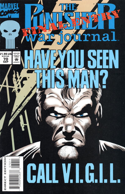 Cover for The Punisher War Journal (Marvel, 1988 series) #70