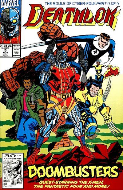 Cover for Deathlok (Marvel, 1991 series) #5 [Newsstand]