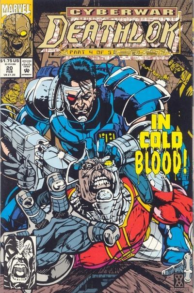 Cover for Deathlok (Marvel, 1991 series) #20 [Direct]