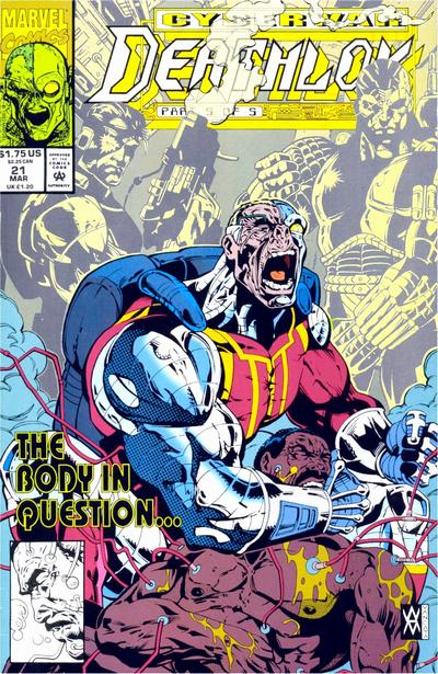 Cover for Deathlok (Marvel, 1991 series) #21 [Direct]