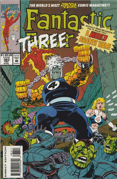Cover for Fantastic Four (Marvel, 1961 series) #383 [Direct Edition]