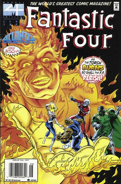Cover for Fantastic Four (Marvel, 1961 series) #401 [Direct Edition]