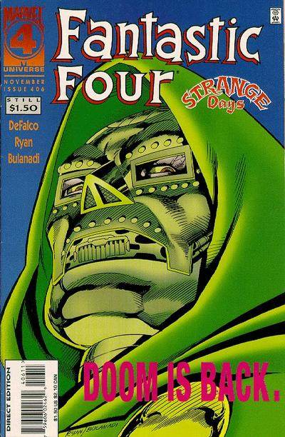 Cover for Fantastic Four (Marvel, 1961 series) #406 [Direct Edition]