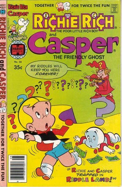 Cover for Richie Rich & Casper (Harvey, 1974 series) #28