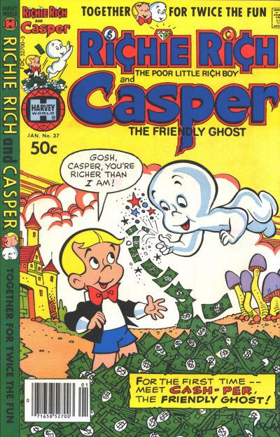 Cover for Richie Rich & Casper (Harvey, 1974 series) #37