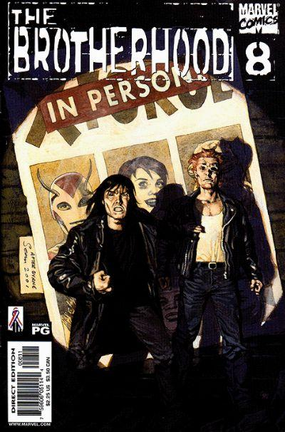 Cover for The Brotherhood (Marvel, 2001 series) #8 [Direct Edition]