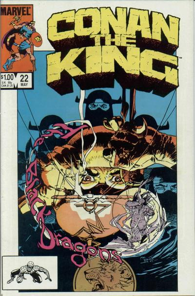 Cover for Conan the King (Marvel, 1984 series) #22 [Newsstand Edition]