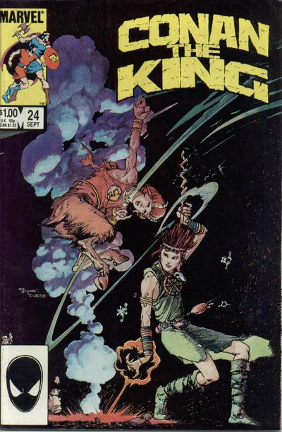 Cover for Conan the King (Marvel, 1984 series) #24 [Newsstand Edition]