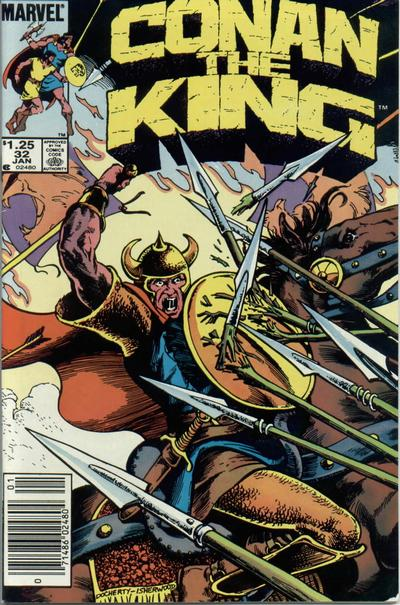 Cover for Conan the King (Marvel, 1984 series) #32 [Direct Edition]