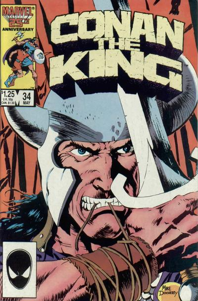 Cover for Conan the King (Marvel, 1984 series) #34 [Direct Edition]