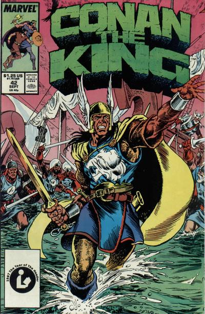 Cover for Conan the King (Marvel, 1984 series) #42 [Direct Edition]