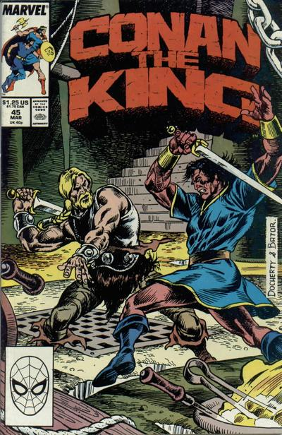 Cover for Conan the King (Marvel, 1984 series) #45 [Direct Edition]