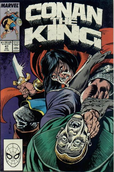 Cover for Conan the King (Marvel, 1984 series) #47 [Direct Edition]