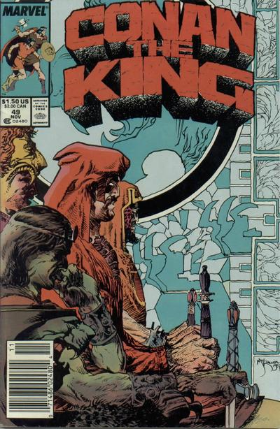 Cover for Conan the King (Marvel, 1984 series) #49 [Direct Edition]