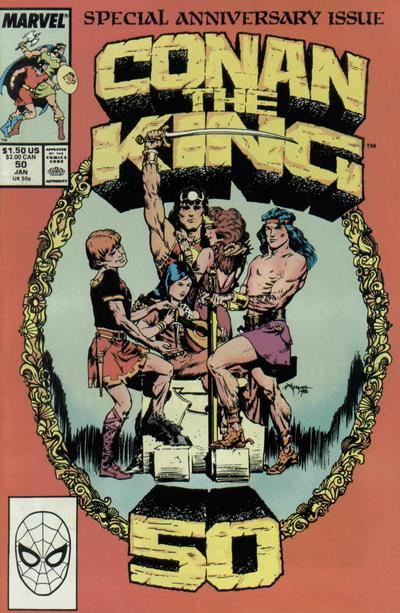 Cover for Conan the King (Marvel, 1984 series) #50 [Direct Edition]