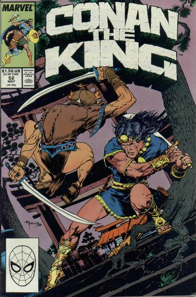 Cover for Conan the King (Marvel, 1984 series) #52 [Direct Edition]