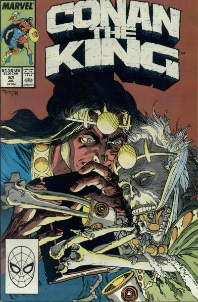 Cover for Conan the King (Marvel, 1984 series) #53 [Direct Edition]