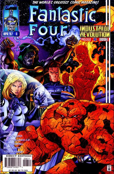 Cover for Fantastic Four (Marvel, 1996 series) #6 [Direct Edition]
