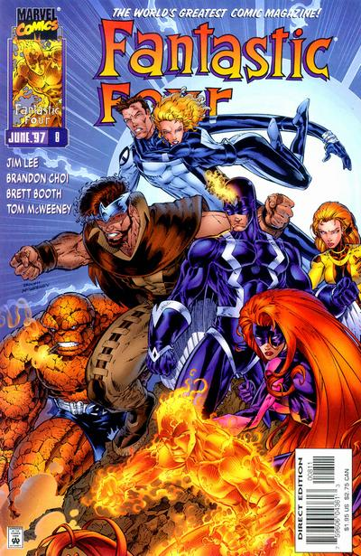 Cover for Fantastic Four (Marvel, 1996 series) #8 [Direct Edition]