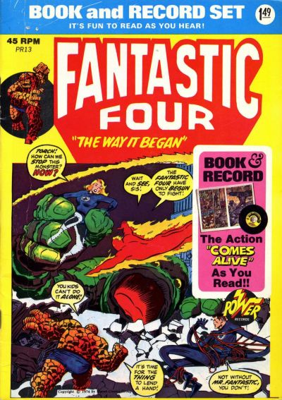 """Cover for Fantastic Four: """"The Way It Began"""" [Book and Record Set] (Peter Pan, 1974 series) #PR13"""