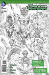 Cover Thumbnail for Green Lantern (2011 series) #22 [Rags Morales Black & White Cover]