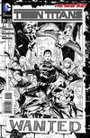 Cover for Teen Titans (DC, 2011 series) #21 [Eddy Barrows / Eber Ferreira Black & White Cover]