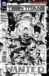 Cover for Teen Titans (DC, 2011 series) #21 [Eddy Barrows / Eber Ferreira Black & White Cover]