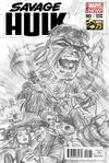 Cover Thumbnail for Savage Hulk (2014 series) #1 [Alex Ross 75th Anniversary Sketch Variant]