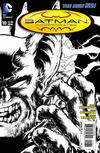 Cover for Batman Incorporated (DC, 2012 series) #10 [Chris Burnham Black & White Wraparound Cover]