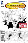 Cover for Batman Incorporated (DC, 2012 series) #12 [Chris Burnham Black & White Cover]