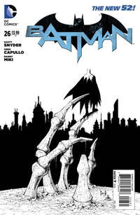 Cover Thumbnail for Batman (DC, 2011 series) #26 [Greg Capullo Black & White Cover]