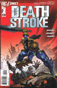 Cover Thumbnail for Deathstroke (DC, 2011 series) #1 [2nd Printing - Red Background]