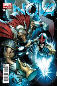 Cover Thumbnail for Nova (Marvel, 2013 series) #15 [Dale Keown Cover]