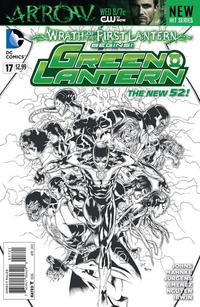 Cover Thumbnail for Green Lantern (DC, 2011 series) #17 [Doug Mahnke Black & White Cover]