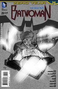 Cover Thumbnail for Batwoman (DC, 2011 series) #25 [Stephane Roux Black & White Cover]