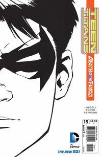 Cover Thumbnail for Teen Titans (DC, 2011 series) #15 [Greg Capullo Black & White Cover]