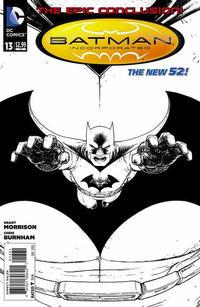 Cover Thumbnail for Batman Incorporated (DC, 2012 series) #13 [Chris Burnham Black & White Cover]