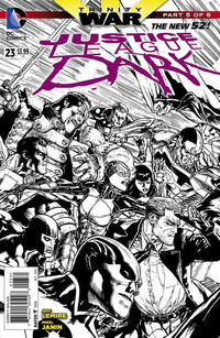Cover Thumbnail for Justice League Dark (DC, 2011 series) #23 [Doug Mahnke Black & White Cover]
