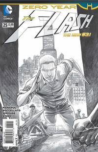 Cover Thumbnail for The Flash (DC, 2011 series) #25 [Francis Manapul Black and White Cover]