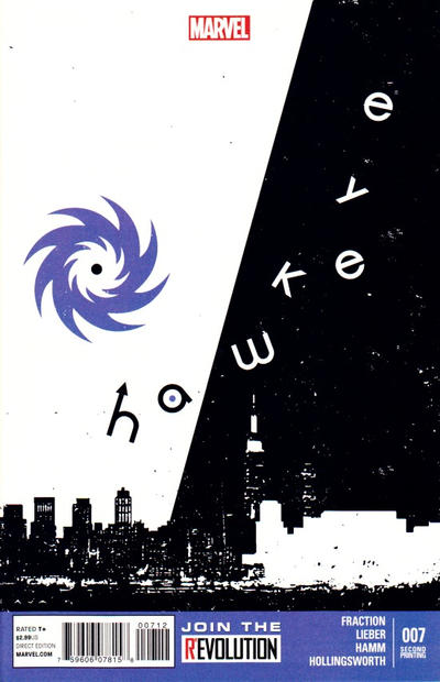 Cover for Hawkeye (Marvel, 2012 series) #7 [2nd Printing]