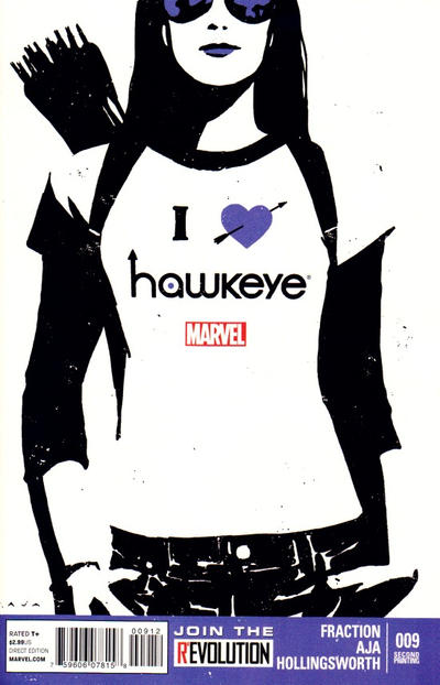 Cover for Hawkeye (Marvel, 2012 series) #9 [2nd Printing]