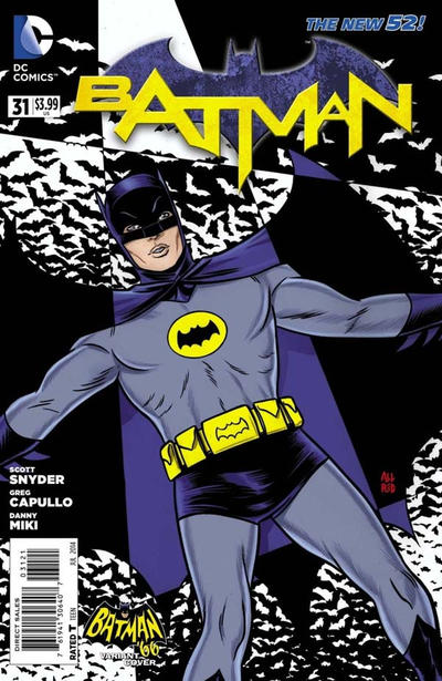 Cover for Batman (DC, 2011 series) #31 [Batman '66 Cover]