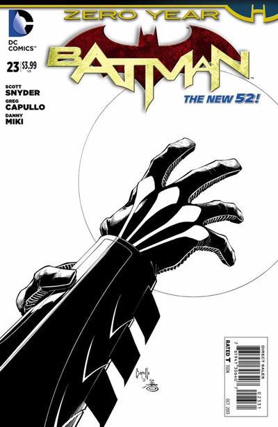 Cover for Batman (DC, 2011 series) #23 [Greg Capullo / Danny Miki Black & White Cover]