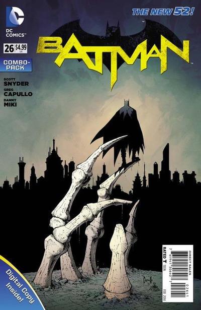 Cover for Batman (DC, 2011 series) #26 [Greg Capullo Black & White Cover]