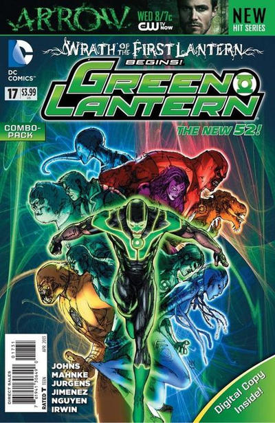 Cover for Green Lantern (DC, 2011 series) #17 [Combo Pack]