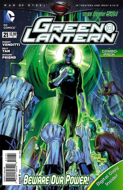 Cover for Green Lantern (DC, 2011 series) #21 [Combo Pack]